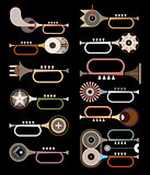 Trumpets - vector background