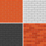 Seamless brick wall patterns.