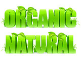 Organic and Natural words.