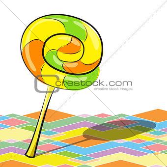 bright lollipop