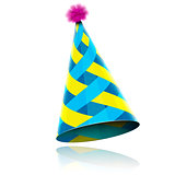 Glossy Cone-like Hat For Event Celebration.