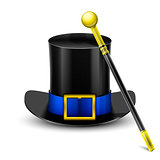 Black Top Hat With Wand