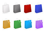 Colorful shopping bag collection