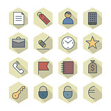 Thin Line Icons For Business and Finance