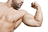 bodybuilding man biceps