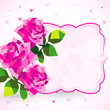 Decorative background or card with roses