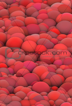 3d bubble balls red pink backdrop