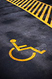 Disabled person parking place permit mark