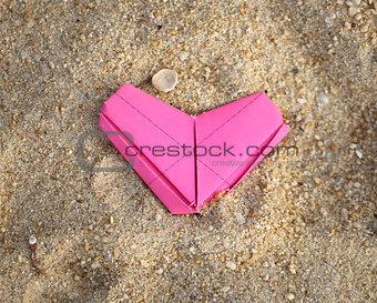 paper pink heart