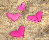 paper pink hearts