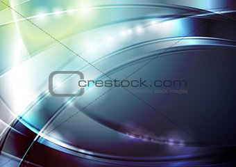 Bright abstract glowing waves design