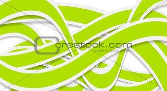 Green waves vector design