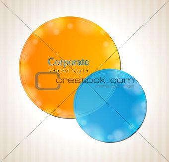 Abstract colorful circles concept background
