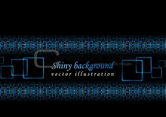 Bright shiny lights vector background