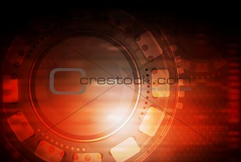 Bright abstract vector technology design. Gradient mesh