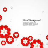 White floral 3d background