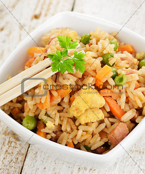 Rice With Chicken And Vegetables