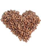 Heart of coffee beans
