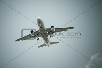 Big airplane in the sky - Passenger Airliner / aircraft