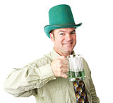 Irish American Man on St Patricks Day