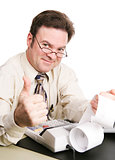 Tax Accountant Giving Thumbs Up