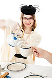 Tea Party - Teen Serves Tea