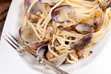 Spaghetti With Clams Overhead