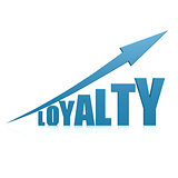 Loyalty blue arrow