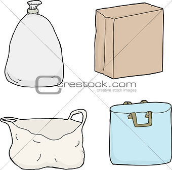 Four Paper and Plastic Bags