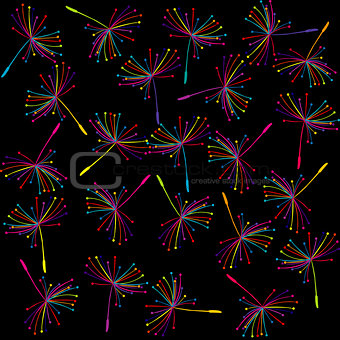 Abstract background with dandelion seeds