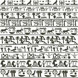 Egyptian hieroglyphics background