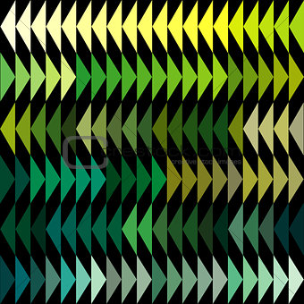Green tones triangles background