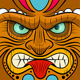 Square Faced Tiki Mask