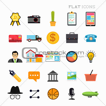 Flat Modern Icon Set