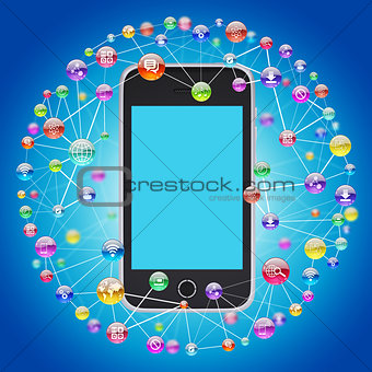 Smartphone and application icons