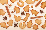 Various gingerbread cookies