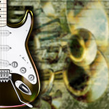 abstract grunge background guitar and musical instruments