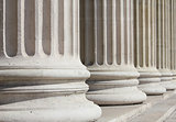 neoclassical columns closeup - business concept