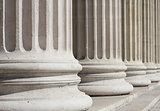 neoclassical columns closeup - business concept