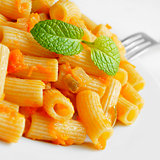 penne rigate with tomato sauce