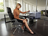 woman with copy machine ssr