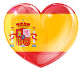 Spain flag love heart