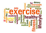 Exercise word cloud