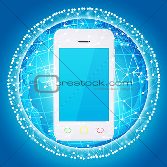 Smart phone and sphere consisting of connections