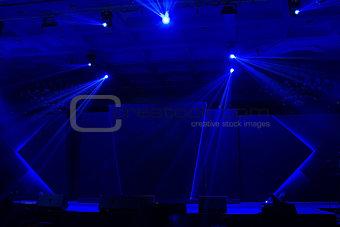 Blue stage light