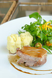 Roasted duck breast with salad