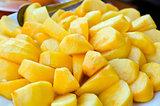 peeled  persimmon