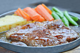 beef steak and vegetable