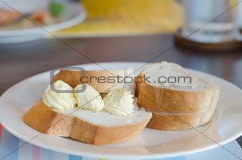 bread on dish