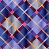 Checkered seamless diagonal tartan texture